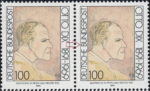 Otto Dix postage stamp error: Black dot above letter B in BUNDESPOST