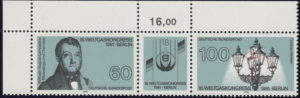 Germany plate flaw on postage stamp: broken latern