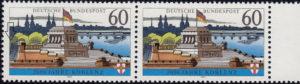 Germany, Koblenz postage stamp plate error
