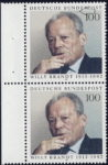 Germany Willy Brandt postage stamp error