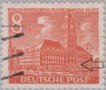 Berlin postage stamp error Schöneberger Rathaus