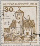 Berlin postage stamp error Burg Ludwigstein