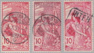 Switzerland, UPU anniversary 1900 postage stamp types 10c