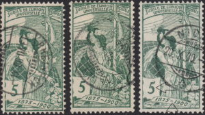 Switzerland, UPU anniversary 1900 postage stamp types 5c