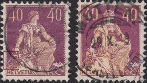 Switzerland, postage stamp types, Helvetia L'EPLATTENIER