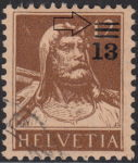 Switzerland, postage stamp error: first line damaged