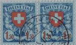 Switzerland, postage stamp error: white circle on Swiss cross
