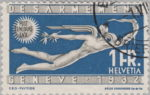 Switzerland: postage stamp error, Disarmament Conference, shifted print phases