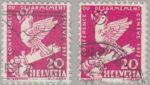 Switzerland: postage stamp error, Disarmament Conference, thick beak
