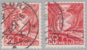 Switzerland, postage stamp types: Gotthard railway