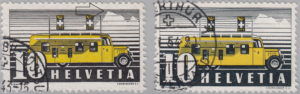 Switzerland, postage stamp types Post Bus