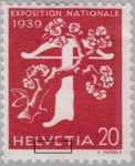 Switzerland 1939 National Exhibition stamp error: retouching