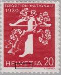 Switzerland 1939 National Exhibition stamp error: retouching