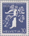 Switzerland 1939 National Exhibition stamp plate error: crossbow limb damaged