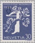 Switzerland 1939 National Exhibition stamp plate error: crossbow limb damaged