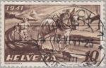 Switzerland: postage stamp error, agriculture, thin line