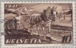 Switzerland: postage stamp error, agriculture, white spot