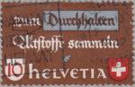 Switzerland, postage stamp plate error, scrap materials, white line