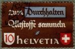 Switzerland, postage stamp error scrap materials coat of arms