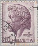 Switzerland: postage stamp plate error, Johann Heinrich Pestalozzi