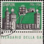 Switzerland: postage stamp retouching, Simplon tunnel