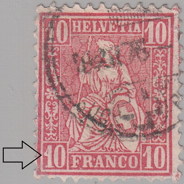 Switzerland Varieties On Postage Stamps Sitting Helvetia 1862 1881 World Stamps Project