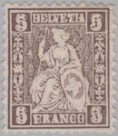 Switzerland, Sitting Helvetia, stamp error: double impression