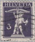 Switzerland, postage stamp error, Tell's son