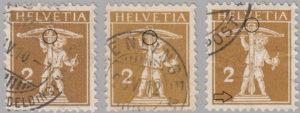 Switzerland, postage stamp types, Tell's son, 2