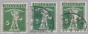 Switzerland, postage stamp types, Tell's son, 5