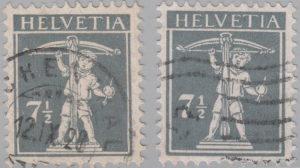 Switzerland, postage stamp types, Tell's son, 7,5