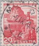 Switzerland, postage stamp error, Church Castagnola in Tessin