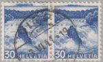 Switzerland: postage stamp error, Rheinfall Schaffhausen