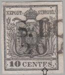Austria Lombardy-Venetia postage 10 centes stamp type 1