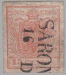 Austria Lombardy-Venetia postage 15 centes stamp type 2