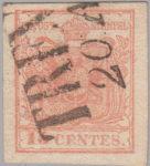 Austria Lombardy-Venetia postage 15 centes stamp type 3