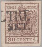 Austria Lombardy-Venetia postage 30 centes stamp type 2