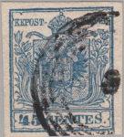 Austria Lombardy-Venetia postage 45 centes stamp type 3