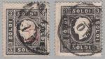Austria Lombardy-Venetia postage 3 soldi stamp with embossing error