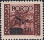 Slovene Littoral, first postage due issue type II
