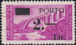 Slovene Littoral postage due stamp overprint error Type Ia damaged canceling block and 2