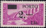Slovene Littoral postage due stamp overprint error dot after 2 damaged