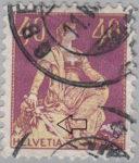 Kneeling Helvetia stamp 40 cents error broken sword
