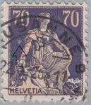 Switzerland, Helvetia postage stamp error