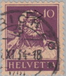 Swiss postage stamp error Tell