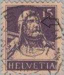 Switzerland William Tell postage stamp retouching