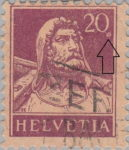 William Tell stamp error