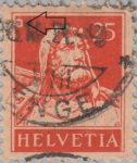 Switzerland, William Tell 25 cents postage stamp error