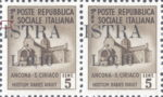 Provisional postage stamp issue for Pula overprint flaw: Upper serif of letter I in ISTRA missing