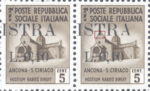 Provisional postage stamp issue for Pula overprint flaw: Base of the letter T in ISTRA missing
